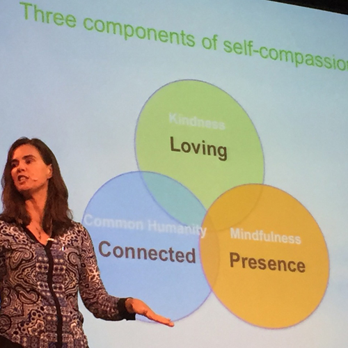 Kristin Neff talking on self-compassion at Action for Happiness