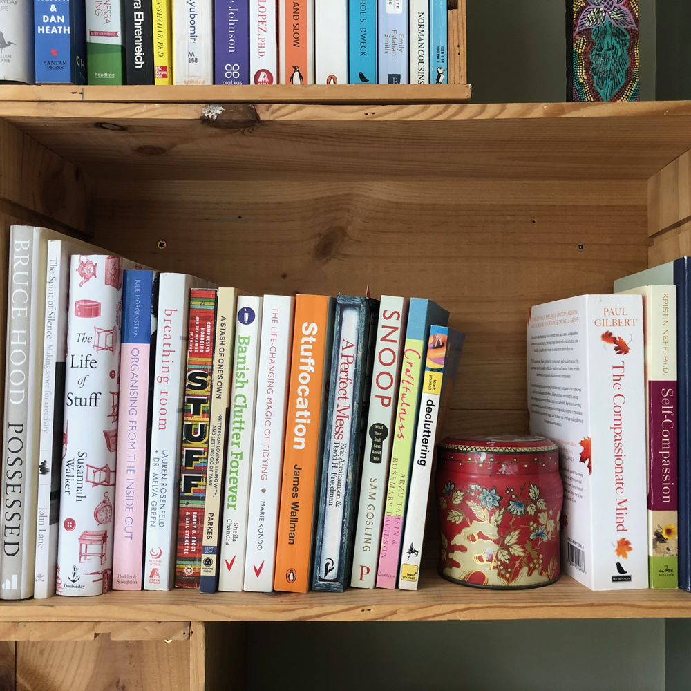 Books on clutter and organising